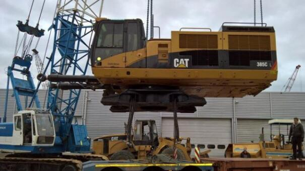 成功案例之进口卡特385C二手挖掘机的报关手续流程